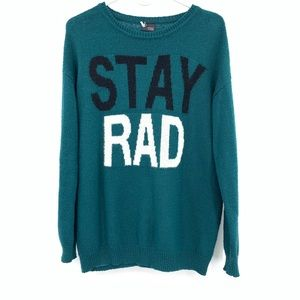 Sparkle & Fade Urban Outfitters Stay Rad Sweater